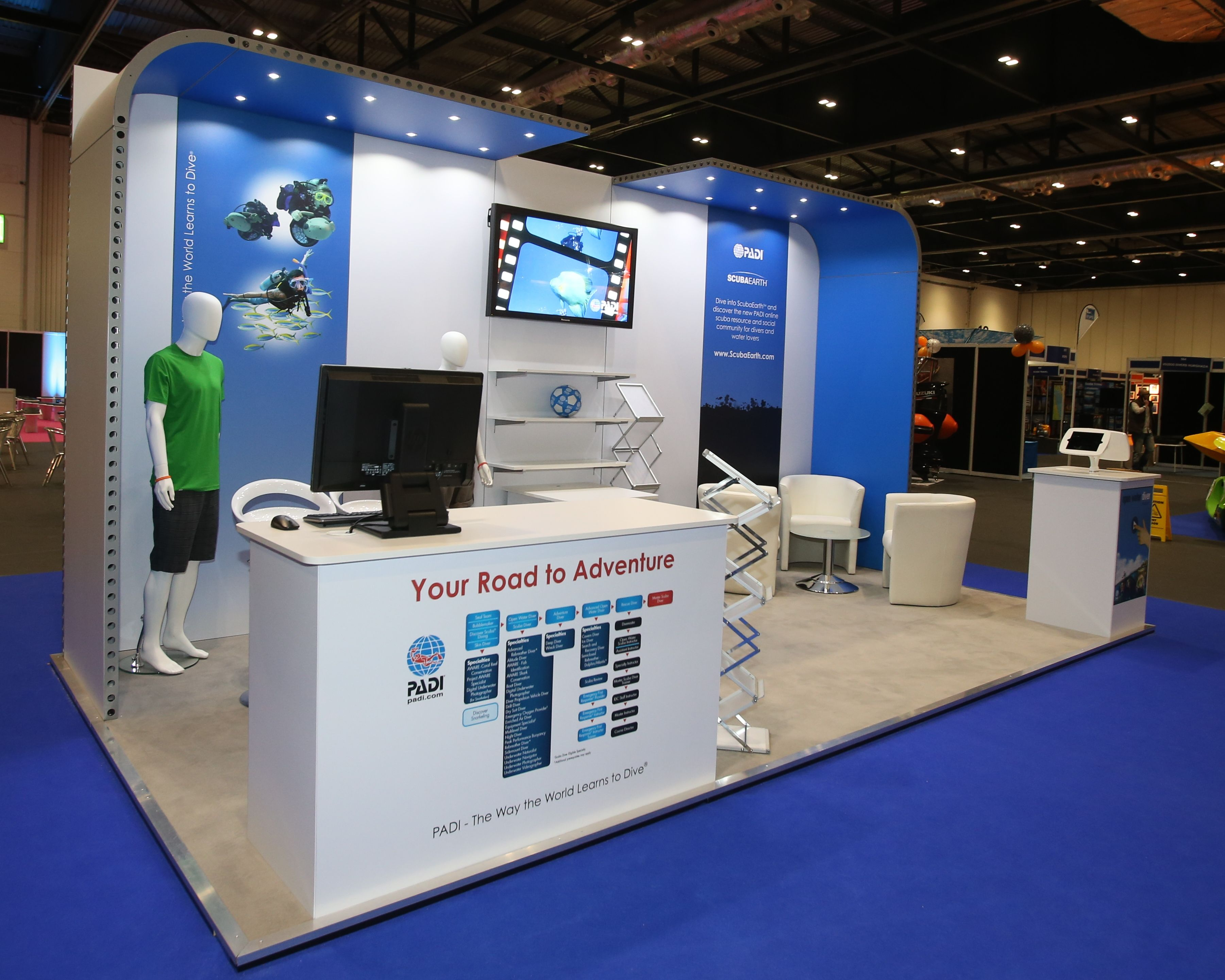 School Exhibition Stall Design : Padi international diving school enhancing their position at the top