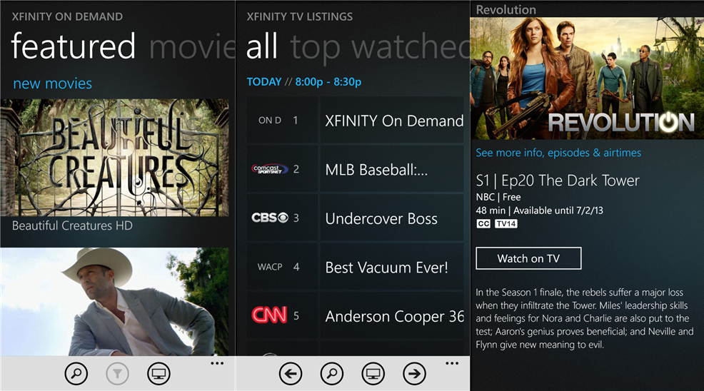 Official Comcast Xfinity TV Remote application for Windows