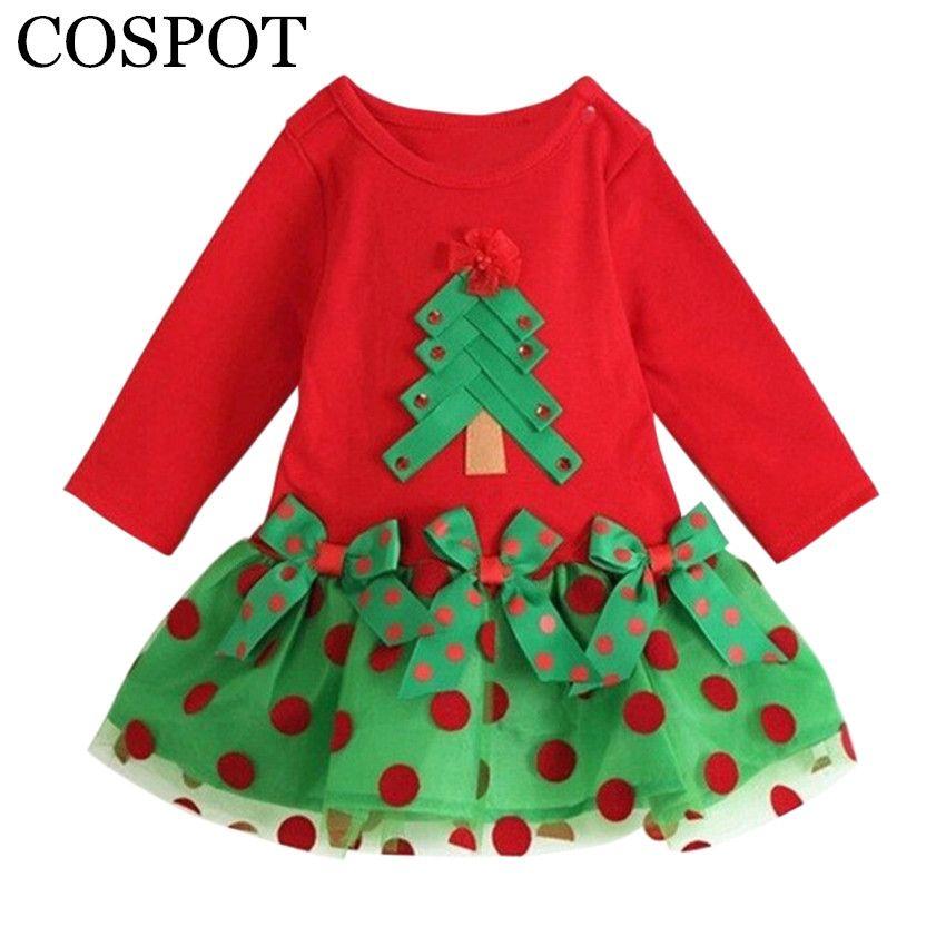 Christmas Children Infant Girl Casual Xmas Princess Tutu Dress+Headband 2018