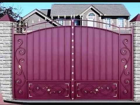 اشكال بوابات حديد متميزة للفيلات Youtube Door Gate Design Main Gate Design Compound Wall Gate Design
