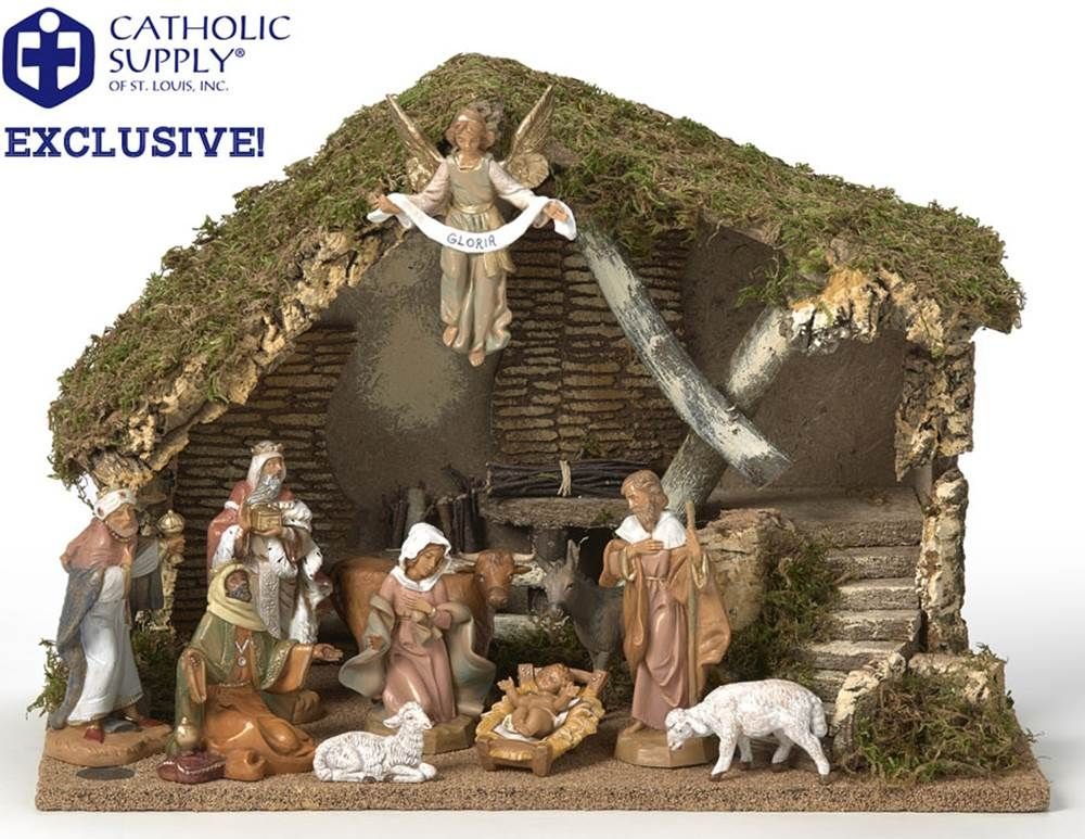 Our Exclusive Fontanini 11 Piece Nativity Set With Stable Catholic Supply Exclusive You Can Only Find It Here 11 Piece Nativity Set Nativity Stable Nativity