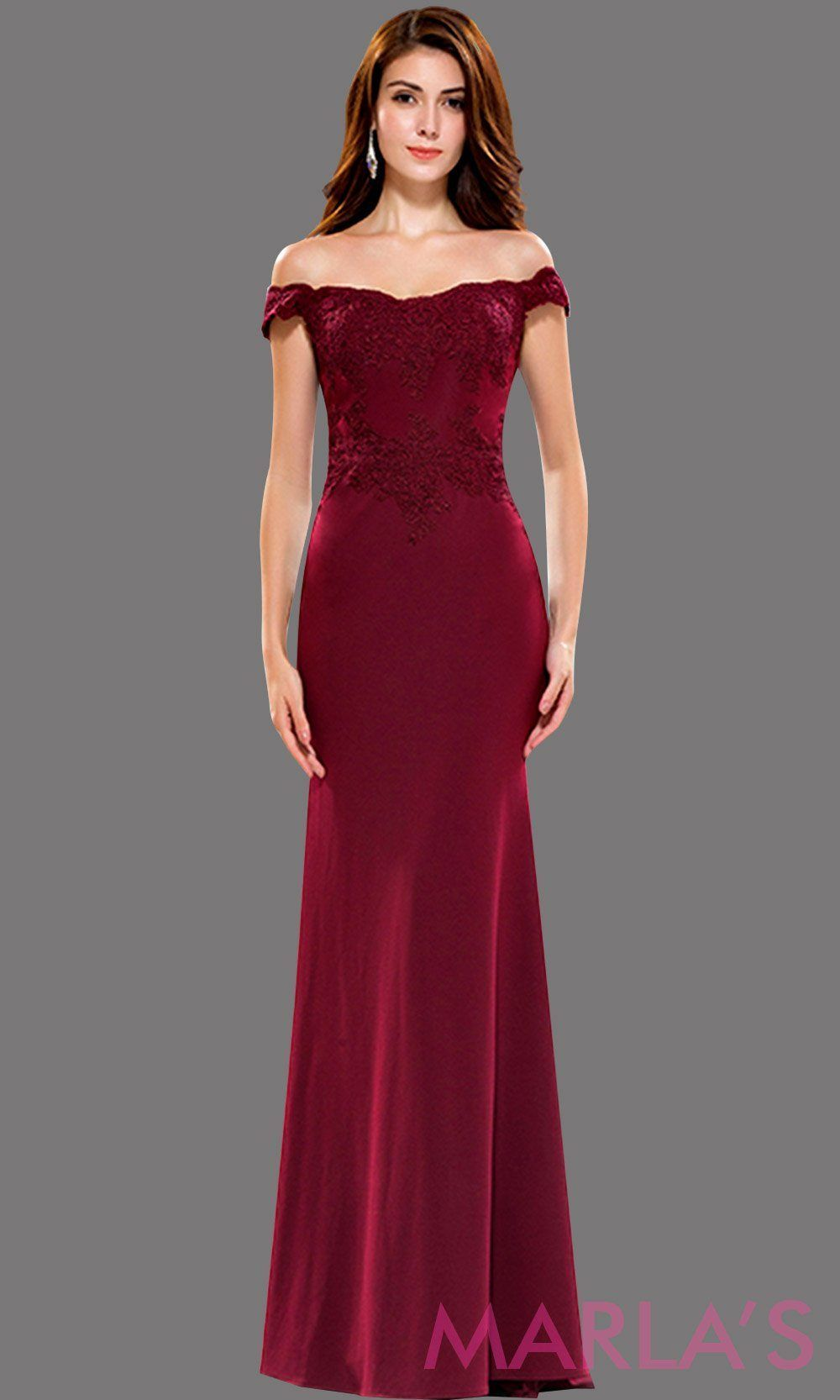 1d0d13970c Long burgundy off shoulder fitted dress with lace top. This dark red sleek  and sexy dress is perfect for prom, formal evening party, gala, wedding  guest ...