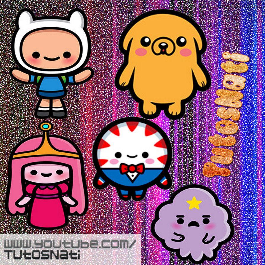 Pack De Iconos Hora De Aventura Kawaii By Tutosnatisub On Deviantart Adventure Time Kawaii Art Chibi