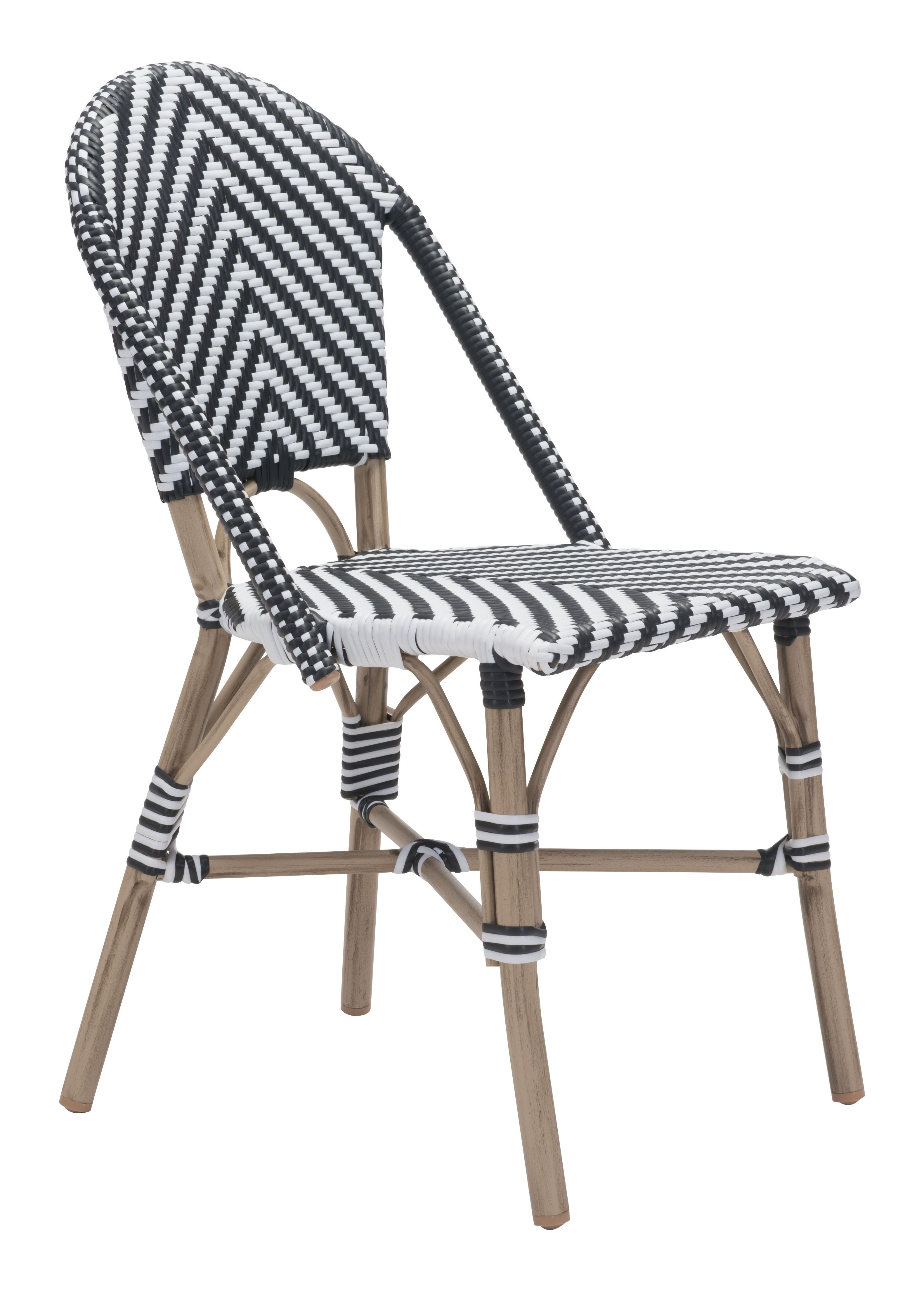 Abri Indoor/Outdoor Dining Chair, Black and White (Set of 2)   Pinterest