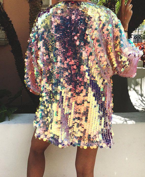 69ee469f6e1 Sequin Kimono - Disco Kimono - Festival Kimono - Womens Festival ...