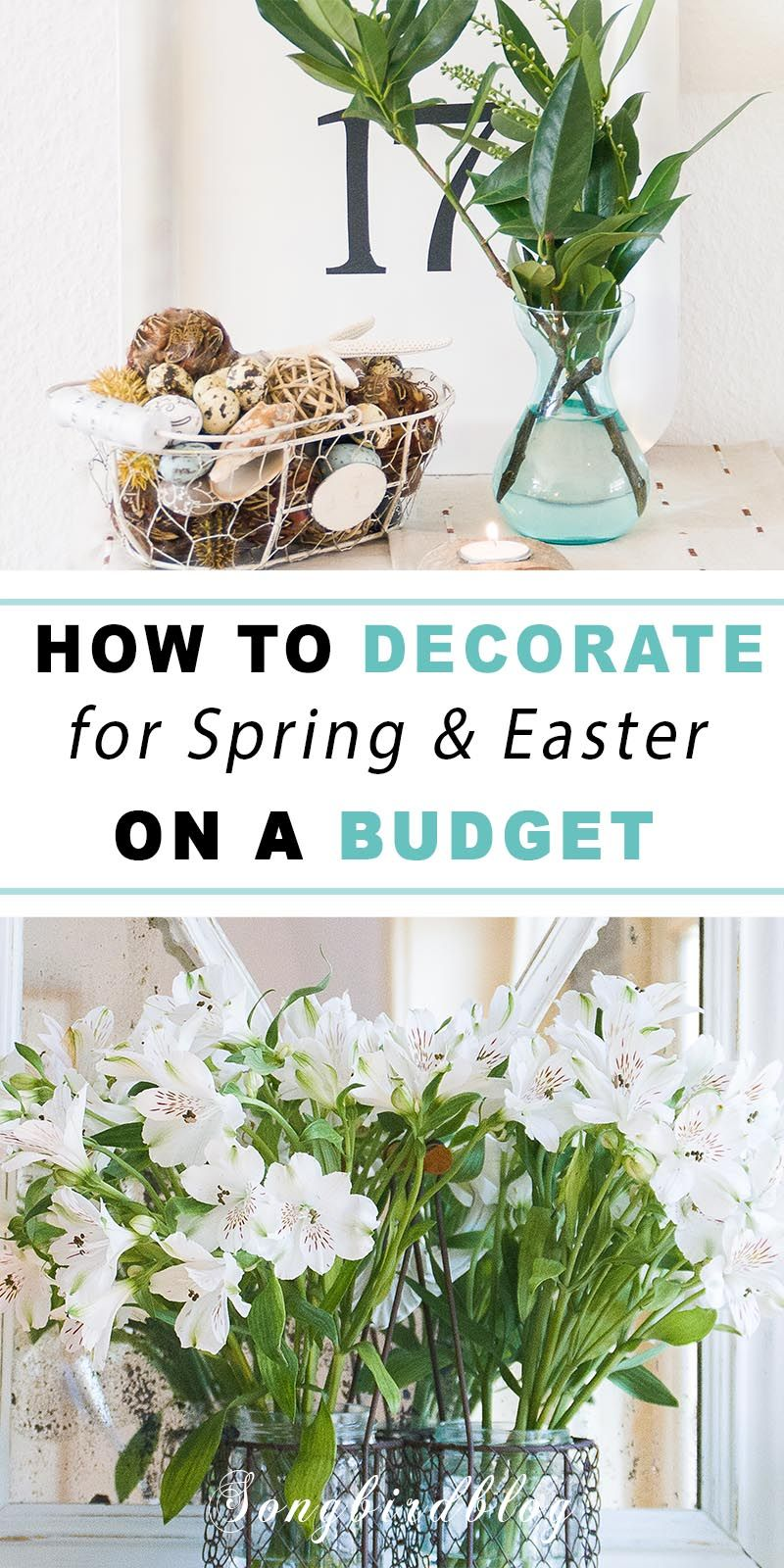 Spring Decorating Ideas For A Small Budget In 2020 Easy Spring Decorations Spring Decor Rustic Easter Decor