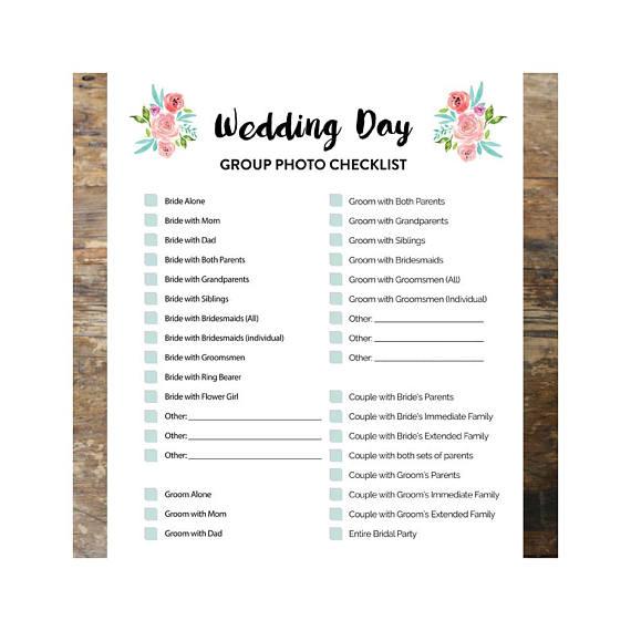 wedding day group photo checklist photo checklist wedding