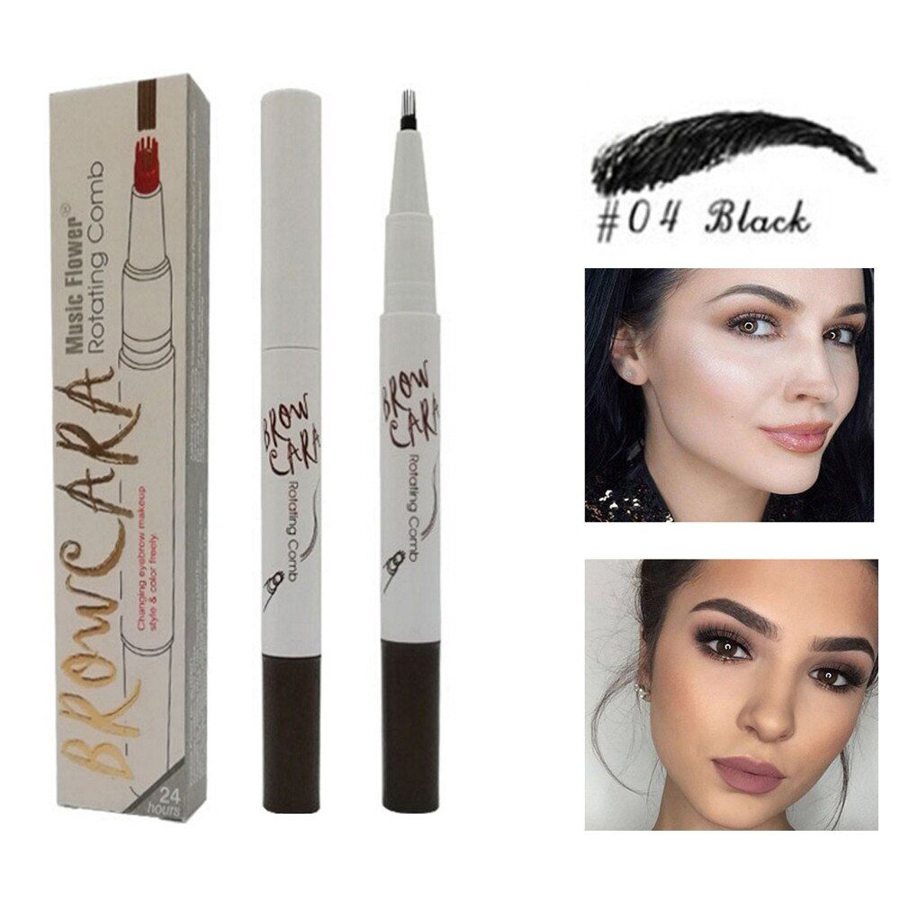 Photo of New Fashion Beauty Eyebrow Pencil Tattoo Pen Long Lasting Waterproof Fork Tip Sketch Makeup Pen Microblading Ink Sketch – Emporiaz729252