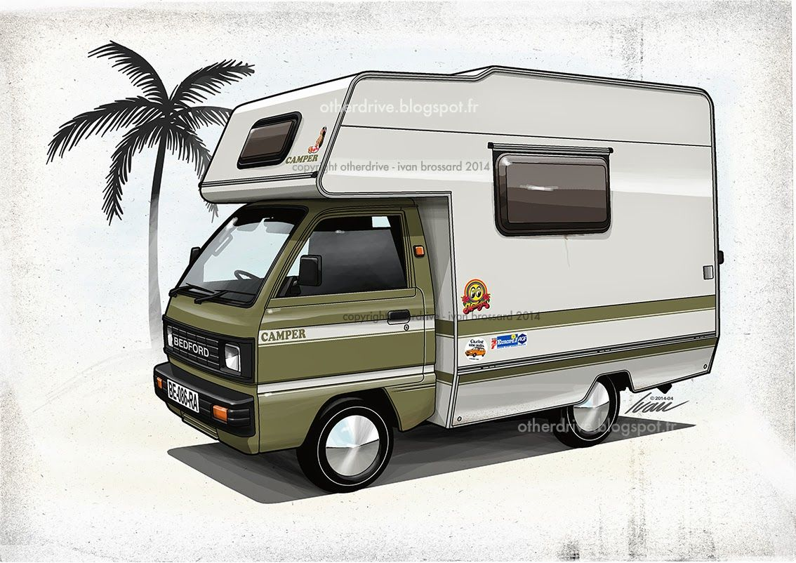 bedford rascal camper fast cars big trucks and loud cycles bedford truck camper van. Black Bedroom Furniture Sets. Home Design Ideas