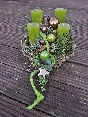 Adventskranz Sternenschweif hellgrün ✨ #adventskranzideen