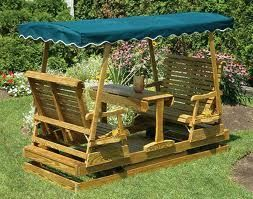 Gliding Picnic Table Outdoor Glider Outdoor Porch Swing