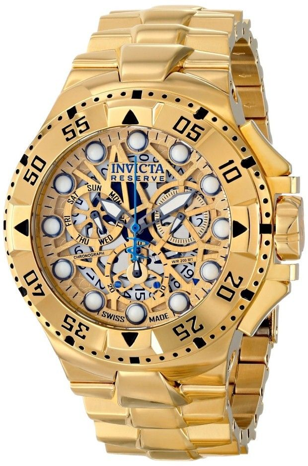 Men gold watches : Gold watches for men Invicta | Gold ...