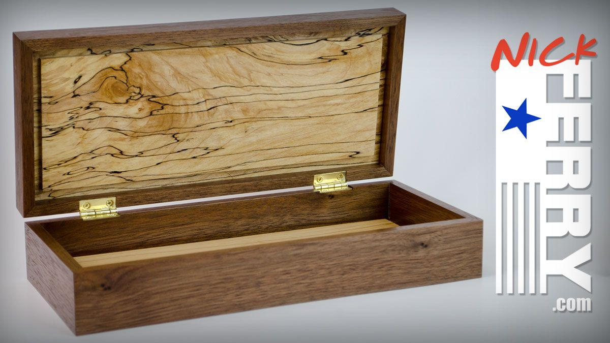 """This walnut and spalted maple keepsake box is a project I had been putting off for some time. It seems we all have those """"when I get around to it""""…"""