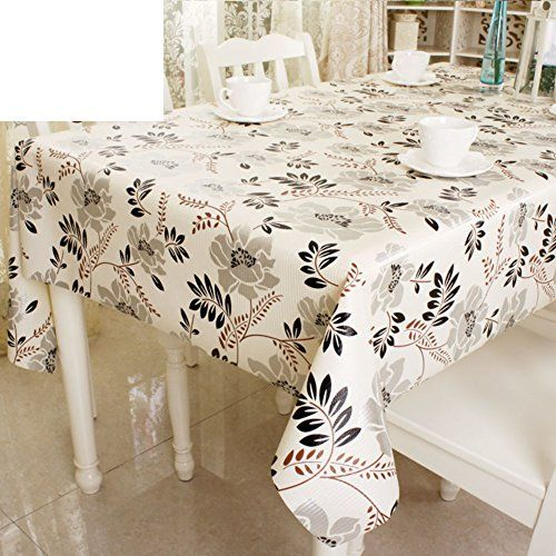 Pvc Water And Oil Proof Tablecloth European Style Garden Table Disposable Plastic Cloth Non Slip Mats C
