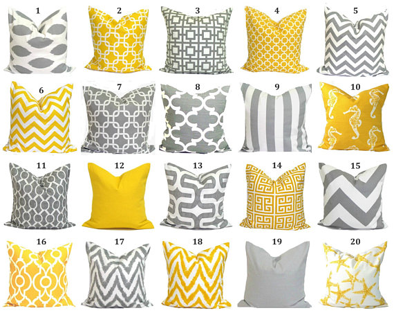 Solid Yellow Pillow, Yellow Pillow