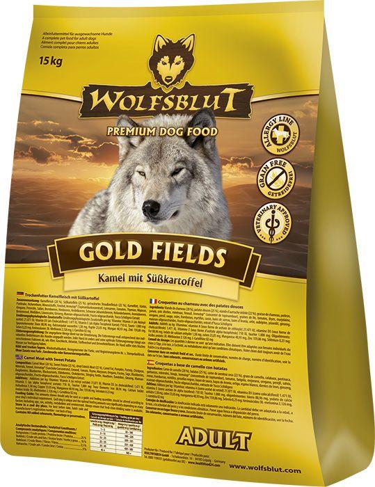 Wolfsblut Gold Fields Adult - Hochwertiges Hundefutter mit Kamel für ausgewachsene Hunde. #wolfsblut #healthfood24