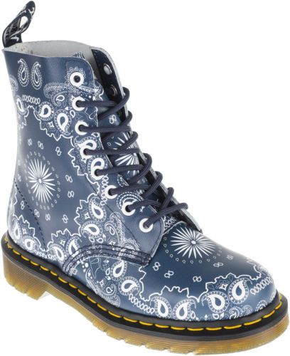 Dr. Martens PASCAL Bandana PAISLEY Docs 8-Eye STIEFEL Boots Rockabilly