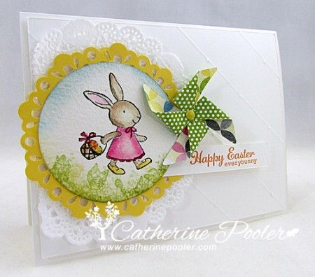 Hand stamped Easter Card