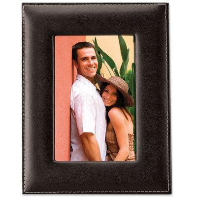 Charlton Home Bonded Leather Picture Frame Size: