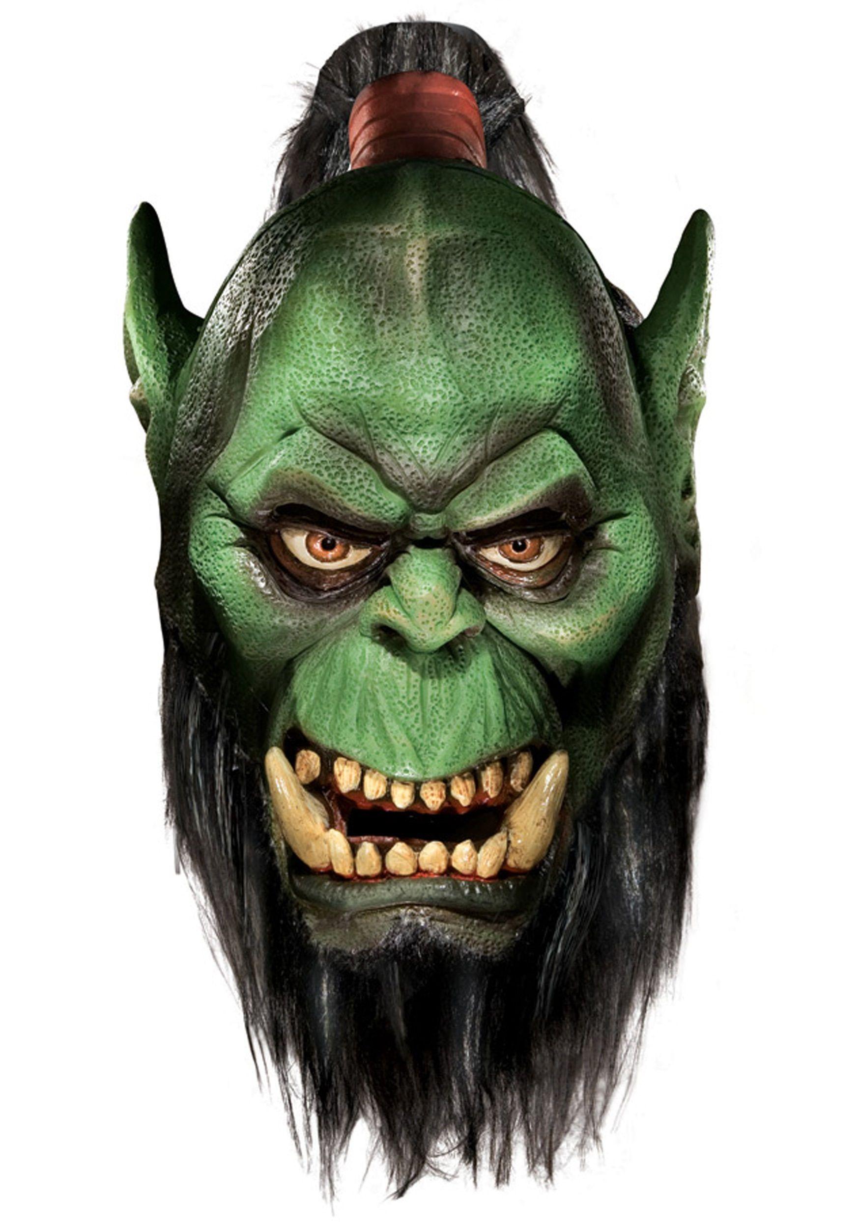 Home Masks Scary World Of Warcraft Troll Latex Mask | Trolls ...