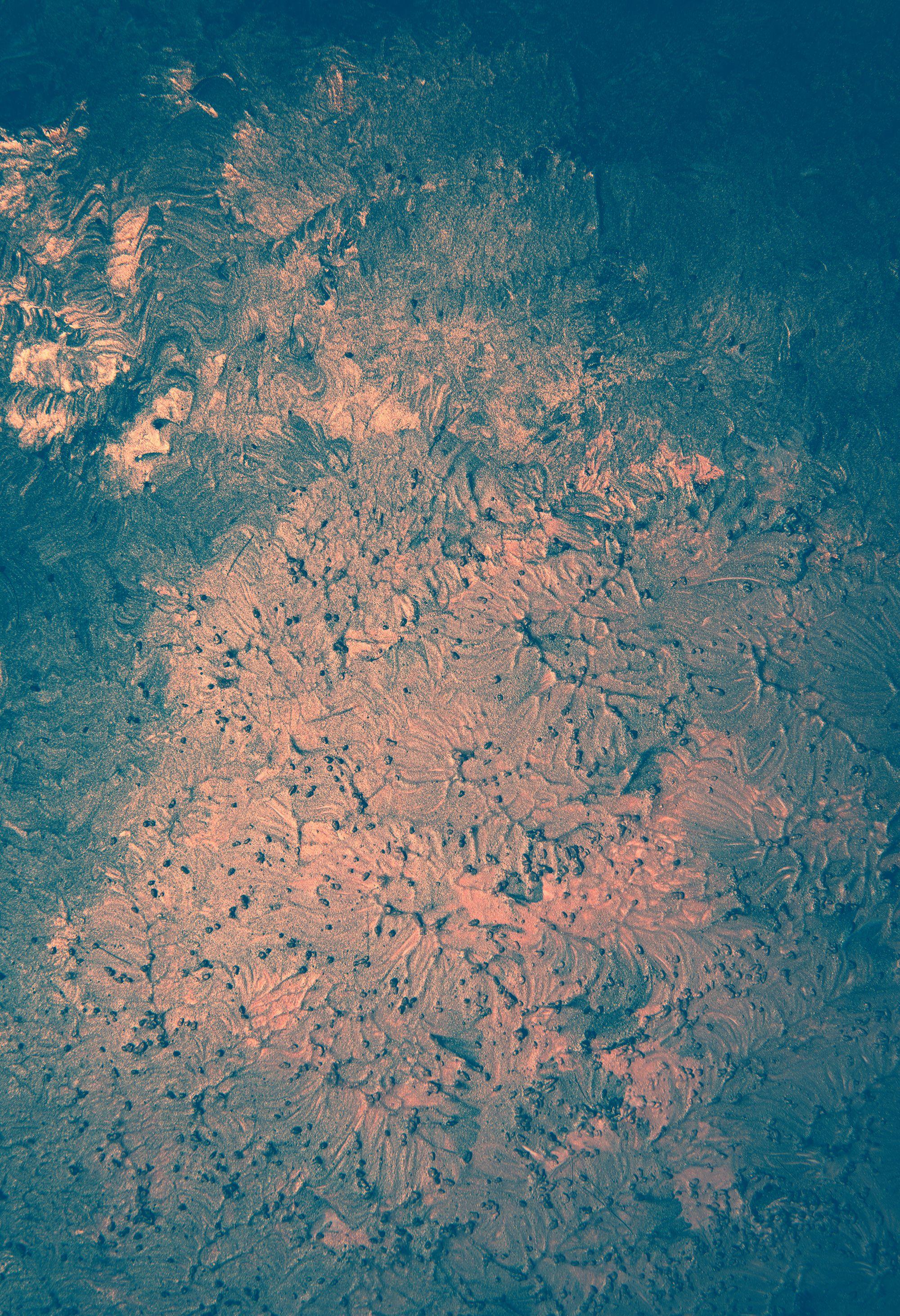 Acryl Hintergrund Lack Texturen Gold Blau Grun Texturen Farbeffekt Hintergrund