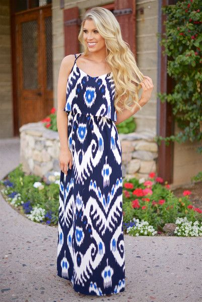 Setting Sail Maxi Dress - Blue from Closet Candy Boutique #fashion #ootd #spring