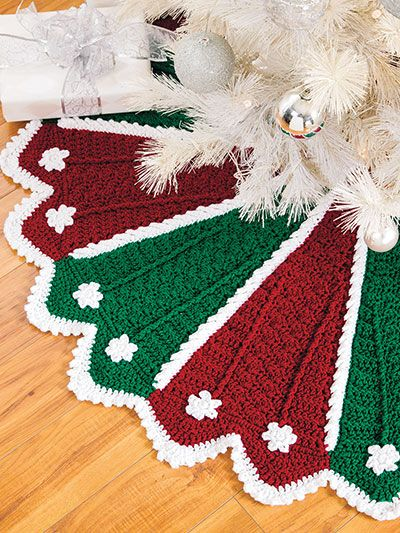 Crochet Patterns For Christmas Christmas Tree Skirt Crochet Pattern Crochet Christmas Decorations Christmas Tree Skirts Patterns