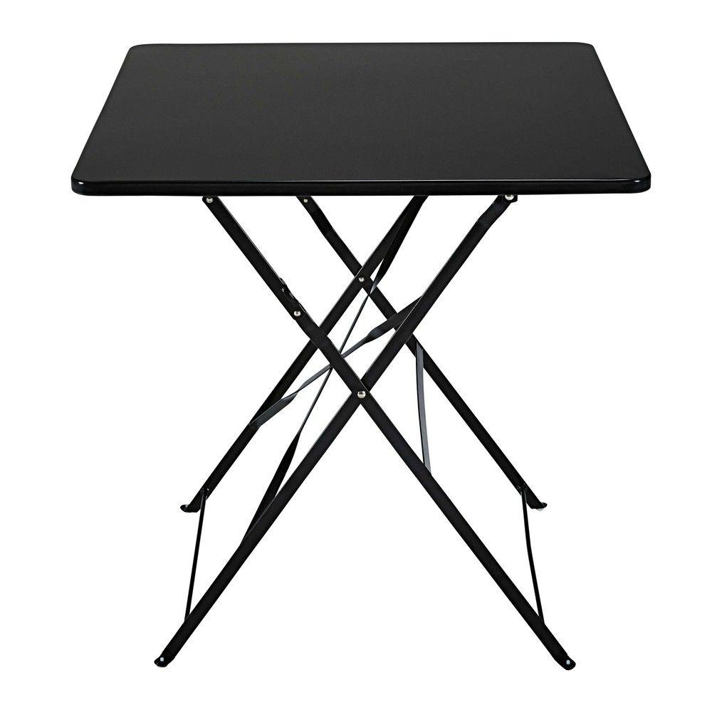 Table De Jardin Pliante En Metal Noir 2 Personnes L70 Klapptisch