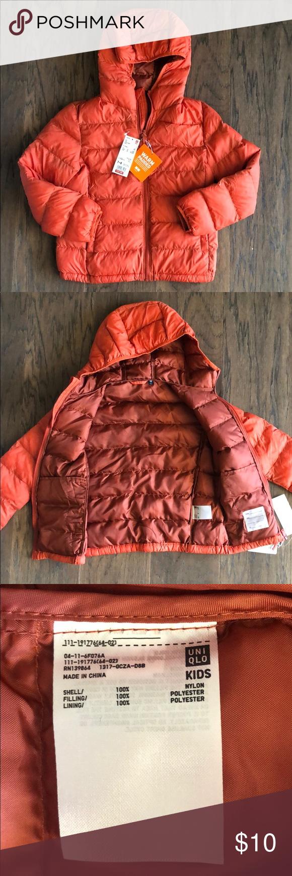 fff3cef4c Cute UNIQLO kids warm padded jacket Super cute orange/red kids jacket. This  jacket