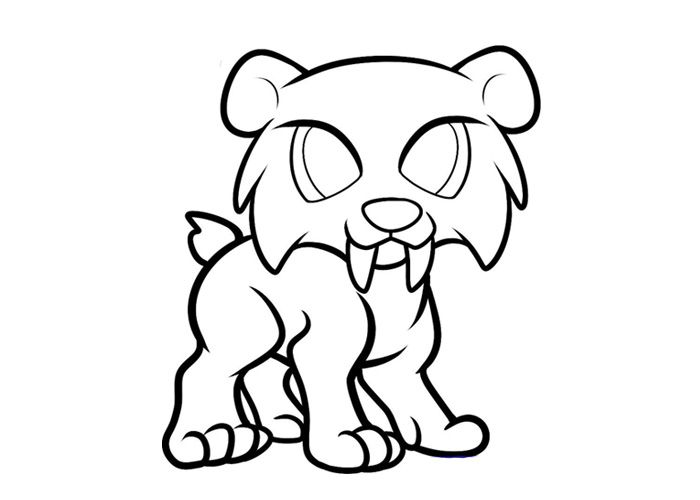 Pin By Commoncat On Ref Creatures Sabertooth Tiger Dragon Coloring Page Skull Drawing
