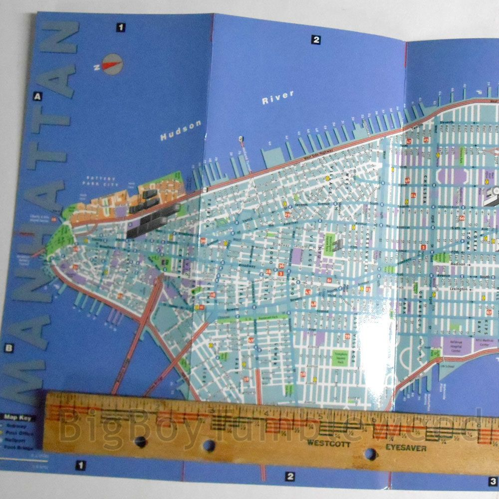 Roadmap Of The Us%0A Vintage      The Culture of NYC New York City guide map VanDam pocket  Manhattan Island Brooklyn Bronx street road map travel guide souvenir