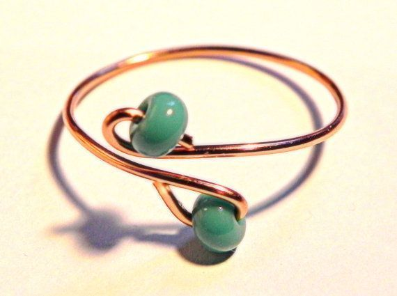 Photo of Turquoise Adjustable Toe Ring, Boho Chic, Spring Summer Fashion Knuckle or Toe, #Boho #ch …