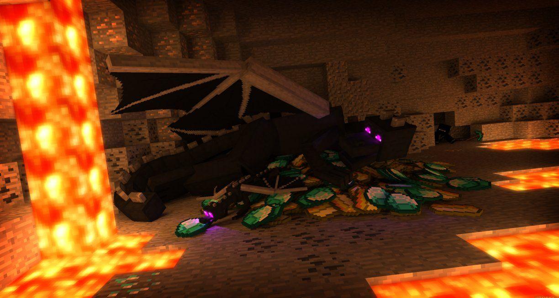 Enderdragon Cave Minecraft Ender Dragon Minecraft Wallpaper Abstract Wallpaper
