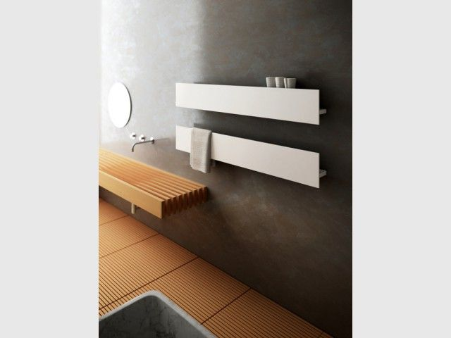 Un radiateur s¨che serviettes en harmonie avec ma salle de bains