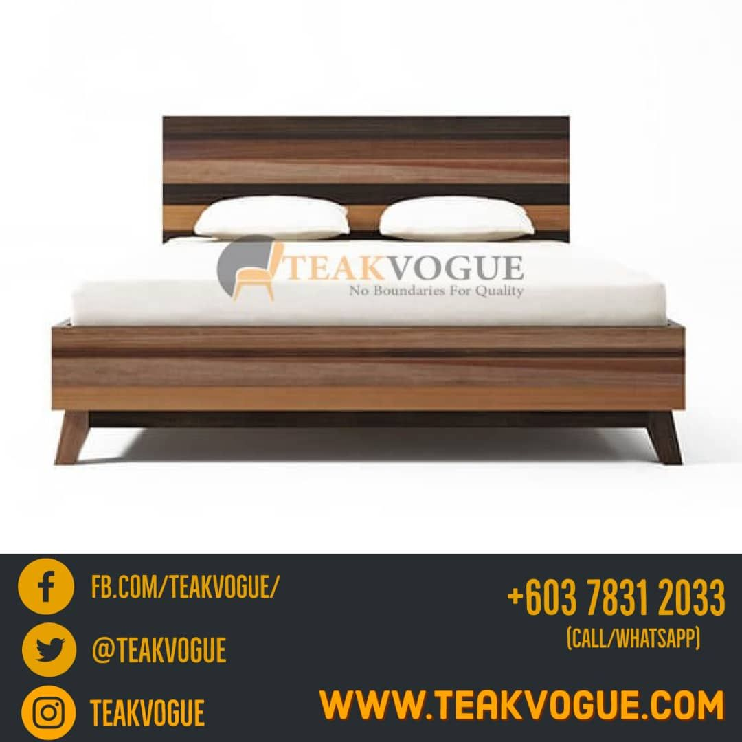 Cannes Bed Queen Size Teak Wood Bed Frames Malaysia Queen Size