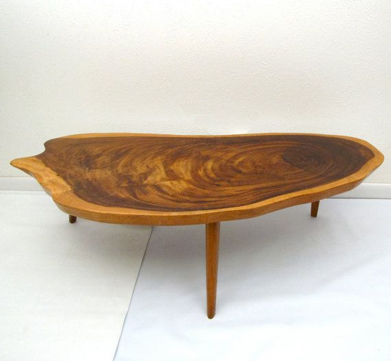 Vintage Mid Century Coffee Table Hawaiian Koa Wood by ...