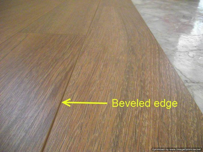 Beveled Edge Laminate Flooring, How To Edge Laminate Flooring