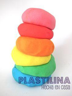 plastilina casera sin cocer con cremor tartaro pero sepuede sustituir la misma cantidad por zumo de limon o vinagre