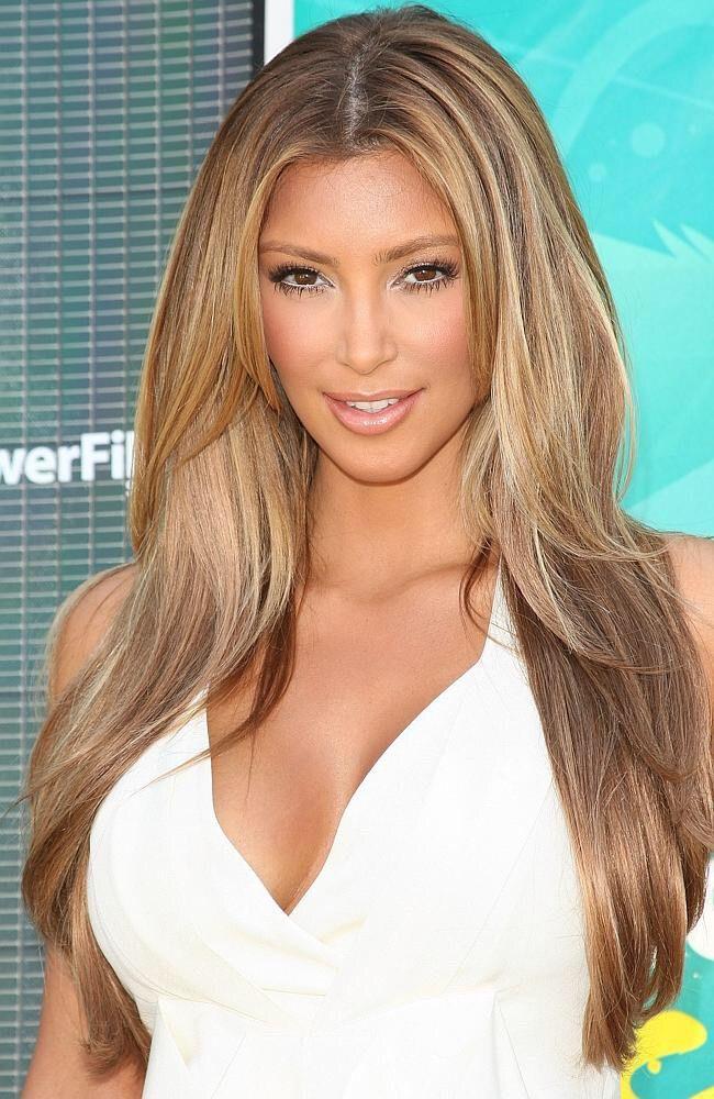highlights blonde Kim kardashian hair