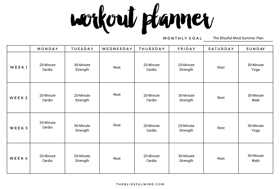 Monthly Workout Schedule Template from i.pinimg.com