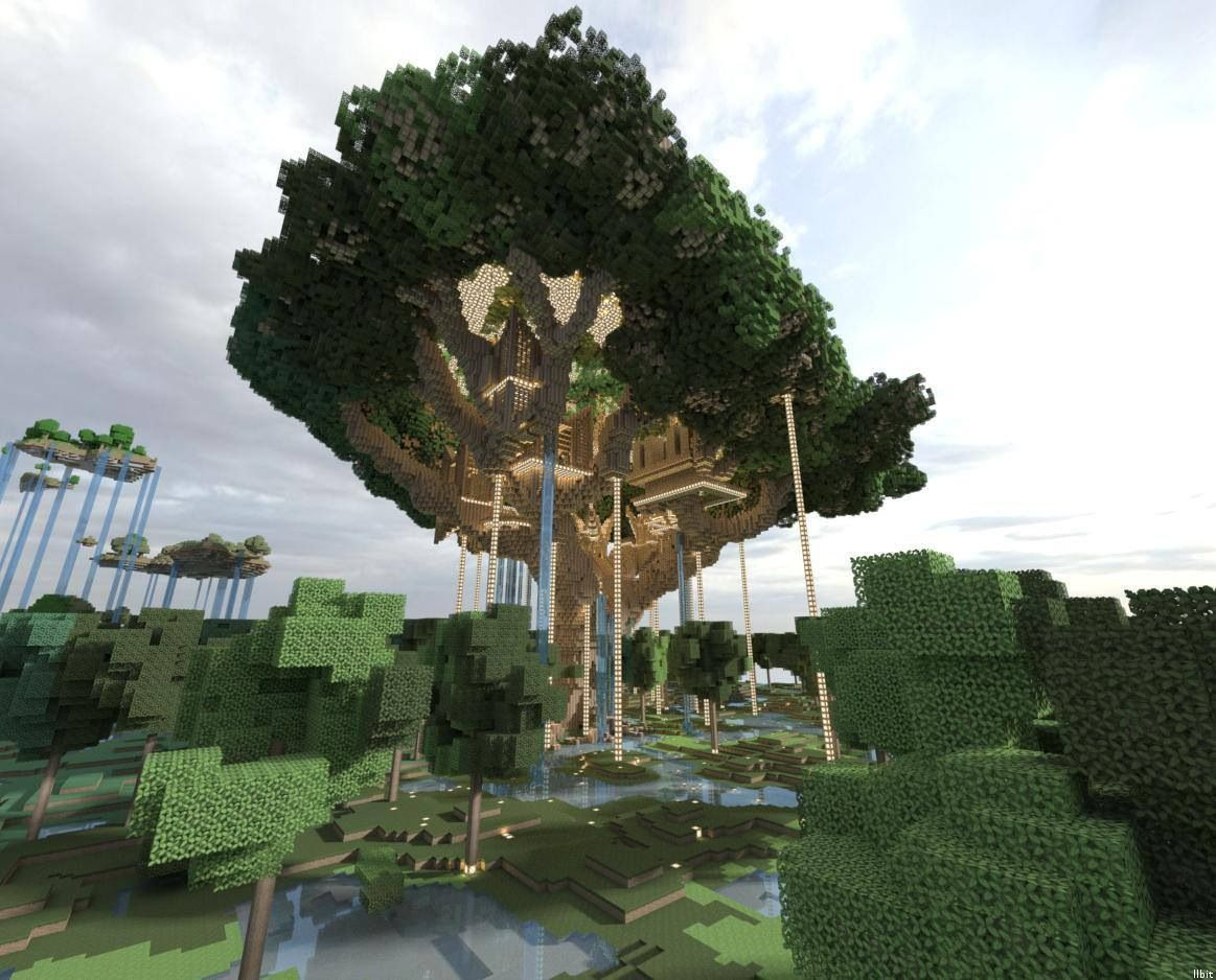 Huge Treehouse Or Tree Mansion More Like Minecraft Inventions