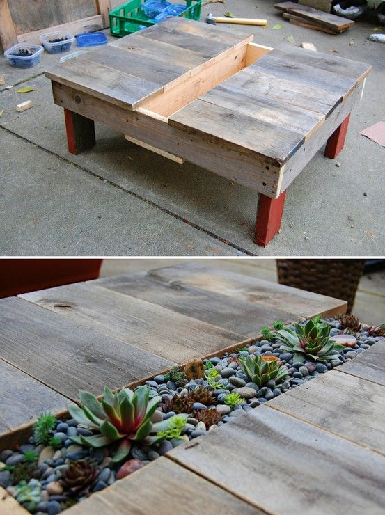Outdoor coffee table from palettes | Deco Brico Recup ...