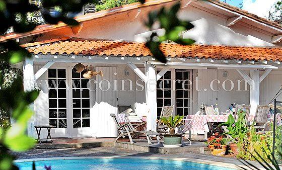 Villa de vacances avec piscine au Cap Ferret, en Gironde avec Coins - location maison cap ferret avec piscine