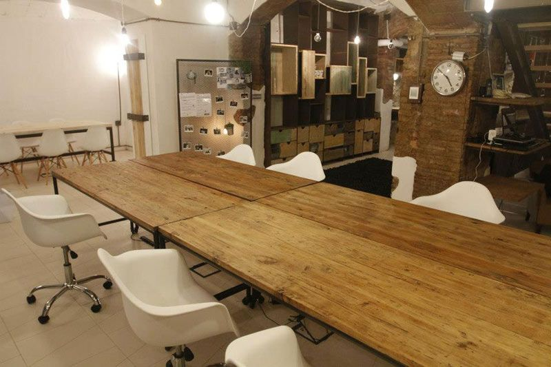 work tables for office. enticing work space with rustic details in barcelona awesome design long wood table and modern white chair tables for office