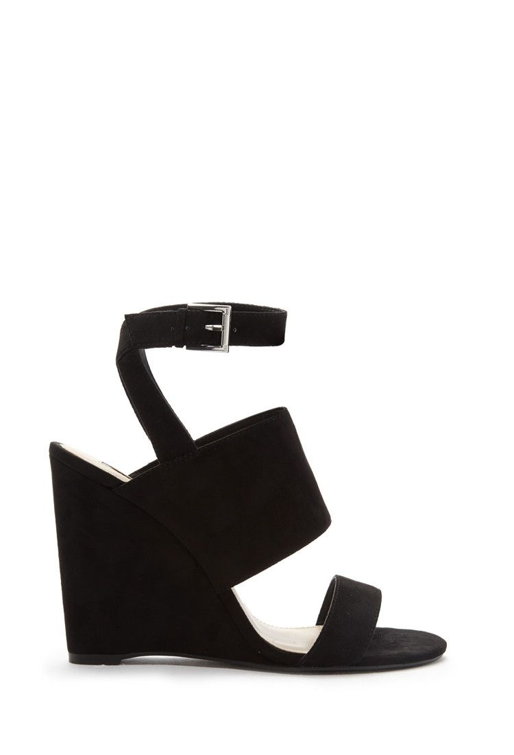 1e865262644 Faux Suede Wedge Sandals