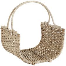 Kubu Natural Wicker Log Basket