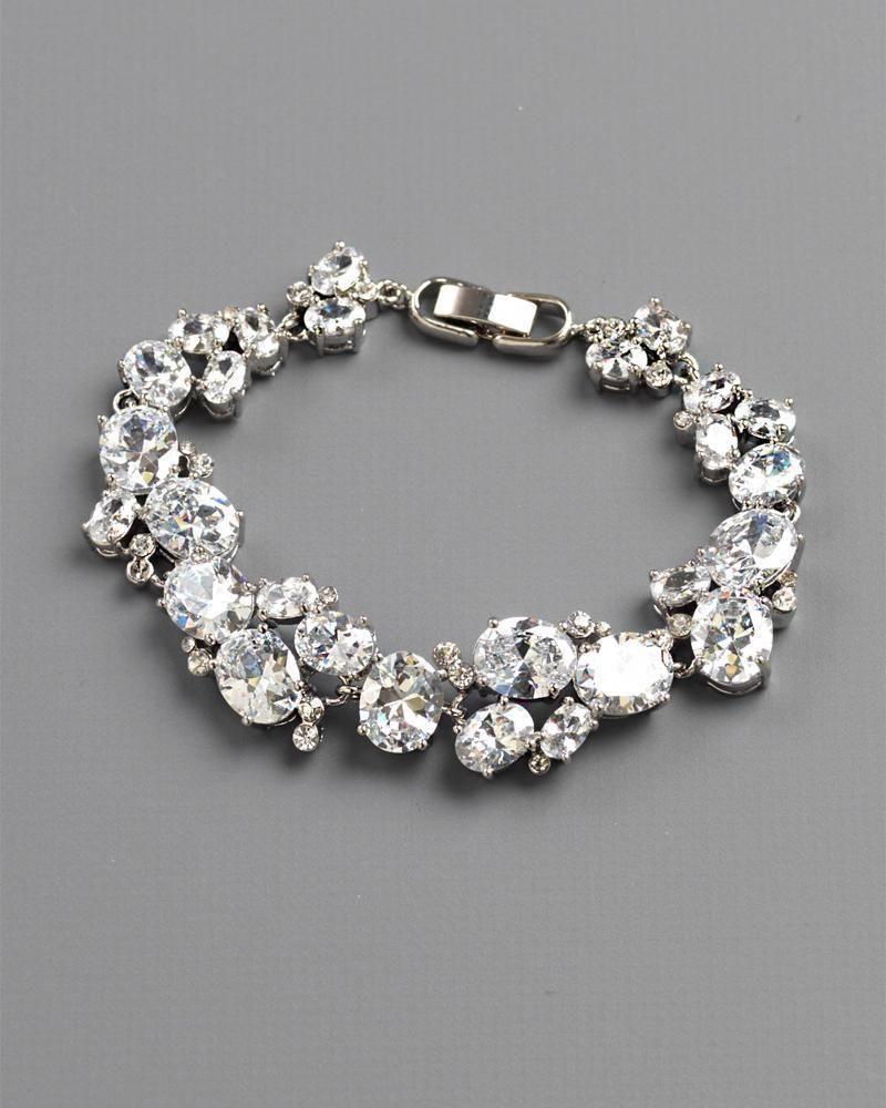 Cz Cluster Bracelet Wedding Jewelry Bracelet Wedding Jewelry Ideas Bride Bracelet Bridal Bracelet Bridal Accessories Jewelry Bridal Jewelry Bride Bracelet