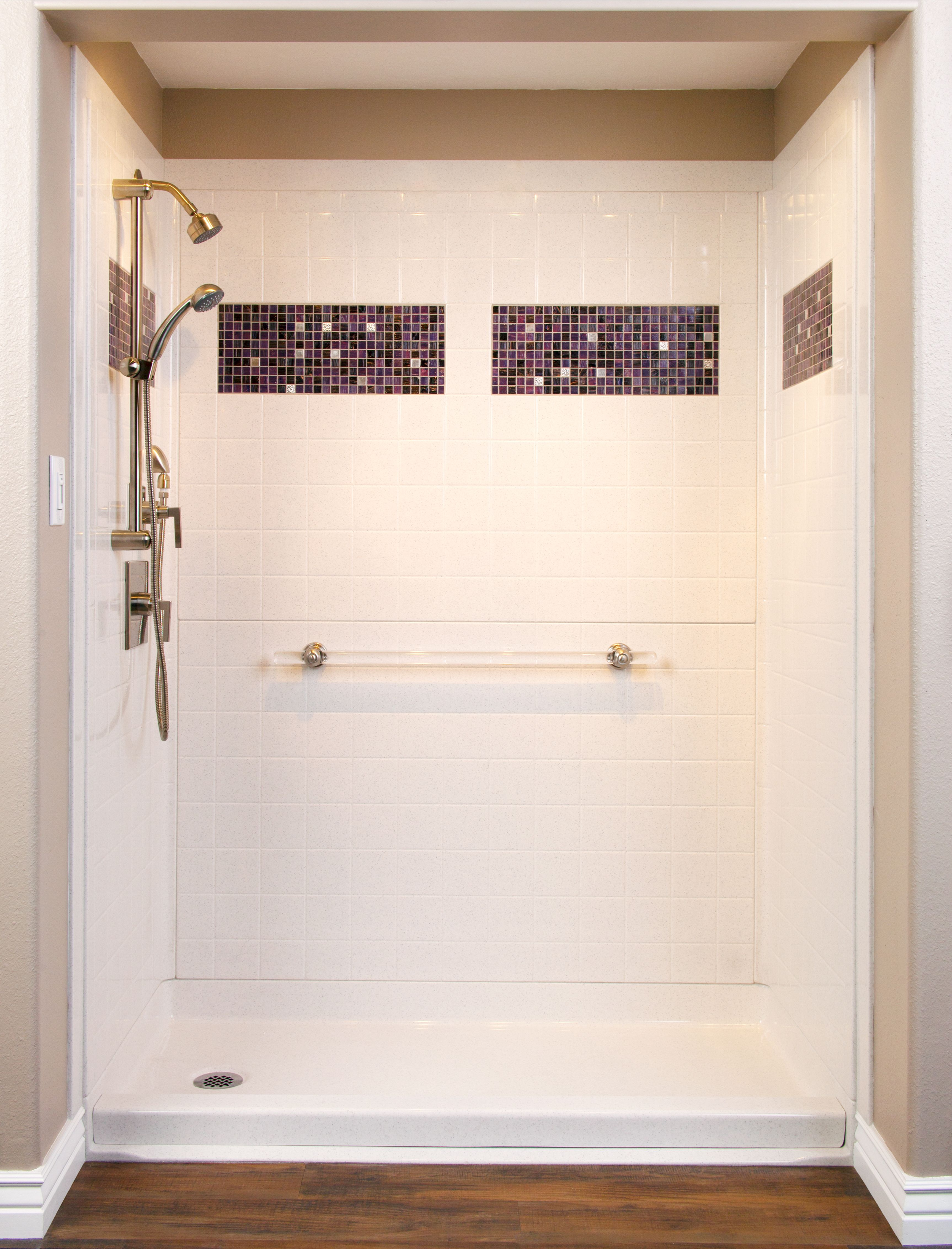 Best Bath Designer Series Shower Unit With Tile Inlay Options To ...