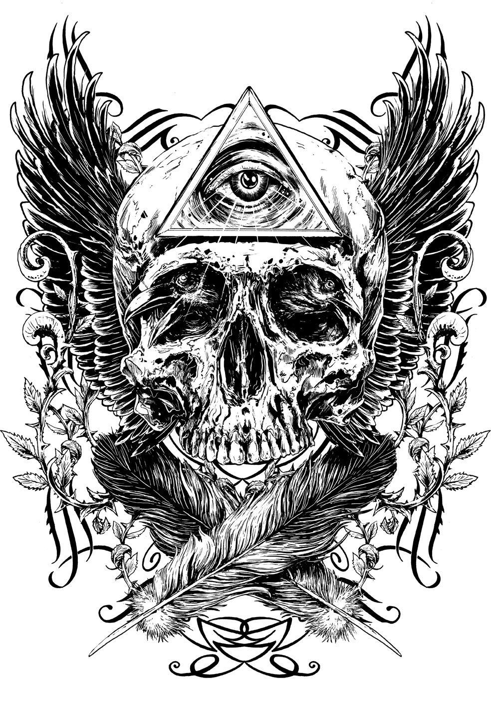 Black and white on behance tatuajes originales dibujos