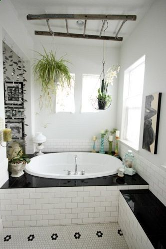Hanging Plants Over The Bathtub Is A Great Way To